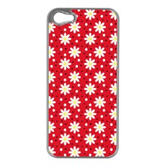 Daisy Dots Red Apple Iphone 5 Case (silver)