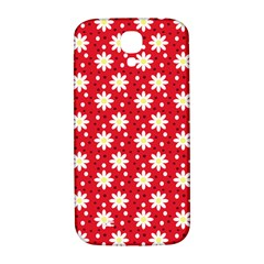 Daisy Dots Red Samsung Galaxy S4 I9500/i9505  Hardshell Back Case