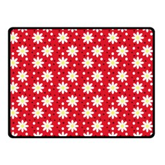 Daisy Dots Red Double Sided Fleece Blanket (small)