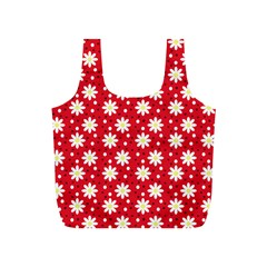 Daisy Dots Red Full Print Recycle Bags (s)