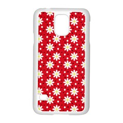 Daisy Dots Red Samsung Galaxy S5 Case (white)