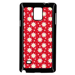 Daisy Dots Red Samsung Galaxy Note 4 Case (black)