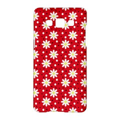 Daisy Dots Red Samsung Galaxy A5 Hardshell Case