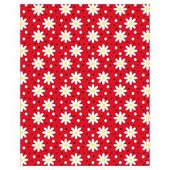 Daisy Dots Red Drawstring Bag (small)
