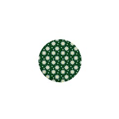 Daisy Dots Green 1  Mini Buttons
