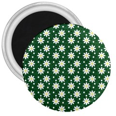 Daisy Dots Green 3  Magnets