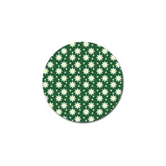 Daisy Dots Green Golf Ball Marker