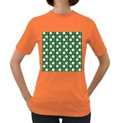 Daisy Dots Green Women s Dark T Shirt