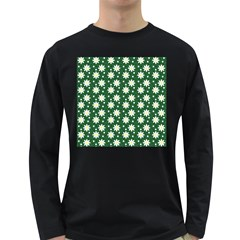 Daisy Dots Green Long Sleeve Dark T Shirts