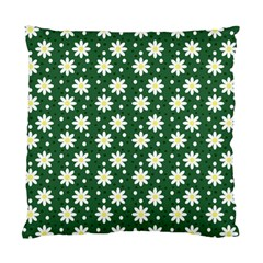 Daisy Dots Green Standard Cushion Case (two Sides)
