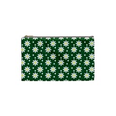 Daisy Dots Green Cosmetic Bag (small)