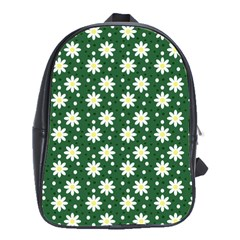 Daisy Dots Green School Bag (large)