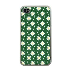 Daisy Dots Green Apple Iphone 4 Case (clear)