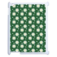 Daisy Dots Green Apple Ipad 2 Case (white)