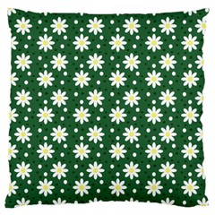 Daisy Dots Green Large Cushion Case (one Side)