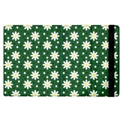 Daisy Dots Green Apple Ipad 2 Flip Case