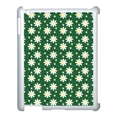 Daisy Dots Green Apple Ipad 3/4 Case (white)