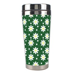 Daisy Dots Green Stainless Steel Travel Tumblers