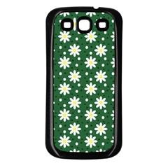 Daisy Dots Green Samsung Galaxy S3 Back Case (black)