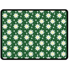 Daisy Dots Green Double Sided Fleece Blanket (large)