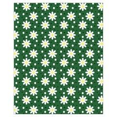 Daisy Dots Green Drawstring Bag (small)
