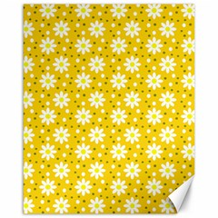 Daisy Dots Yellow Canvas 16  X 20
