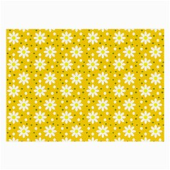 Daisy Dots Yellow Large Glasses Cloth (2 Side)
