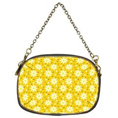 Daisy Dots Yellow Chain Purses (one Side)