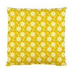 Daisy Dots Yellow Standard Cushion Case (one Side)