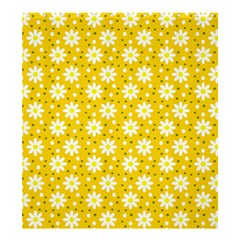 Daisy Dots Yellow Shower Curtain 66  X 72  (large)