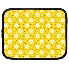 Daisy Dots Yellow Netbook Case (xl)