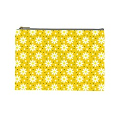Daisy Dots Yellow Cosmetic Bag (large)