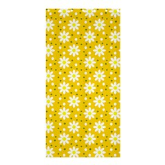 Daisy Dots Yellow Shower Curtain 36  X 72  (stall)