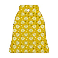 Daisy Dots Yellow Bell Ornament (two Sides)