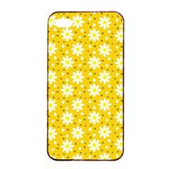 Daisy Dots Yellow Apple Iphone 4/4s Seamless Case (black)