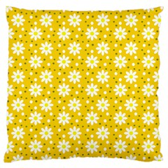 Daisy Dots Yellow Large Cushion Case (two Sides)