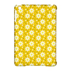 Daisy Dots Yellow Apple Ipad Mini Hardshell Case (compatible With Smart Cover)