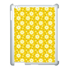 Daisy Dots Yellow Apple Ipad 3/4 Case (white)