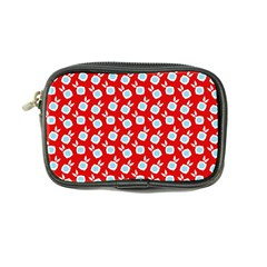 Square Flowers Red Coin Purse