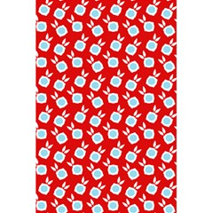 Square Flowers Red 5 5  X 8 5  Notebooks