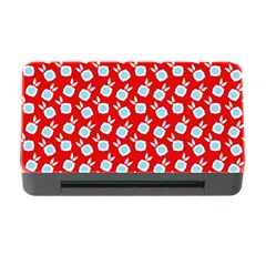 Square Flowers Red Memory Card Reader With Cf