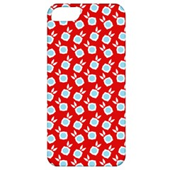 Square Flowers Red Apple Iphone 5 Classic Hardshell Case