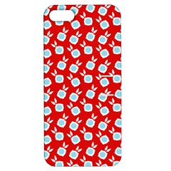 Square Flowers Red Apple Iphone 5 Hardshell Case With Stand