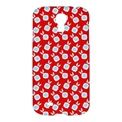 Square Flowers Red Samsung Galaxy S4 I9500/i9505 Hardshell Case