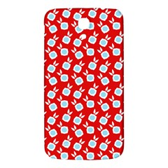 Square Flowers Red Samsung Galaxy Mega I9200 Hardshell Back Case