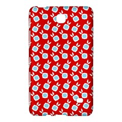 Square Flowers Red Samsung Galaxy Tab 4 (8 ) Hardshell Case
