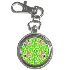Square Flowers Green Key Chain Watches