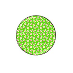 Square Flowers Green Hat Clip Ball Marker