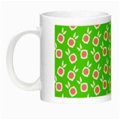 Square Flowers Green Night Luminous Mugs