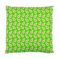 Square Flowers Green Standard Cushion Case (two Sides)